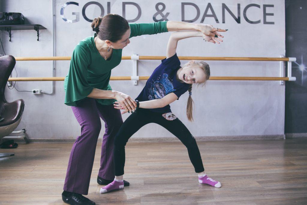 Разучивание танцевального движения